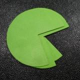 Coins de sacs cuir Vert granny
