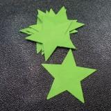 Etoile cuir Vert granny