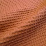 Tissu Nid d'abeilles caramel