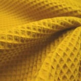 Tissu Nid d'abeilles moutarde