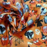 Tissu chouettes Halloween