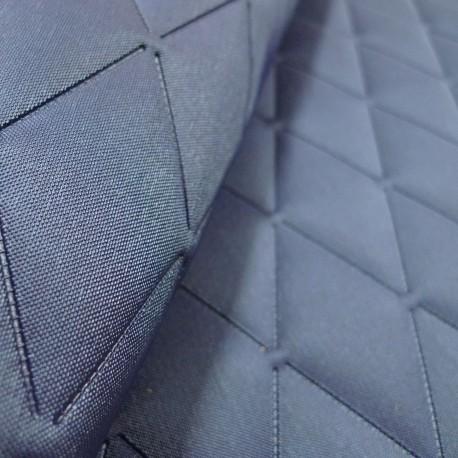 Tissu Vanity capiton bleu irisé