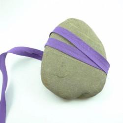 Biais polycoton violet