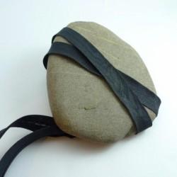 Biais polycoton noir