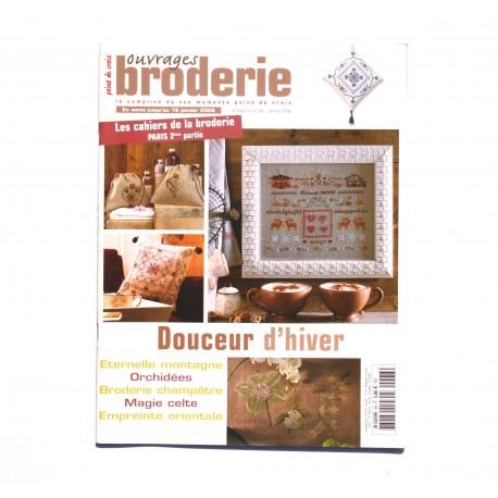 Magazine point de croix, ouvrages broderie n°68 janvier  2006
