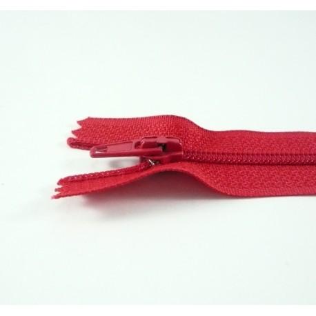 Fermeture à glissière classique rouge