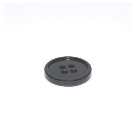 Bouton rond 30 mm noir