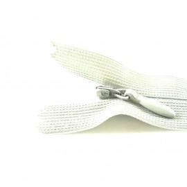 Fermeture à glissière invisible blanche