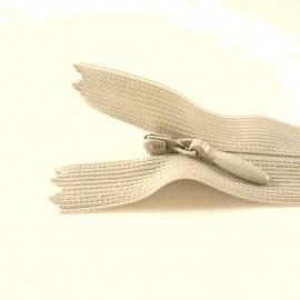 Fermeture à glissière invisible beige