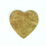 Coeur cuir or