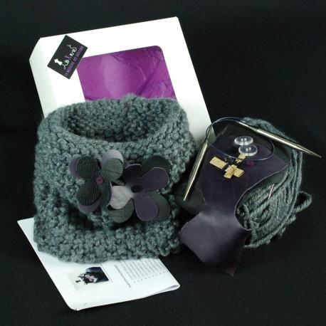 Kit à tricoter snood modulable