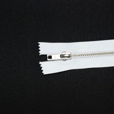 Fermeture à glissière fine métal blanc