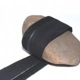 Biais rehausse dentelle noire 60 mm