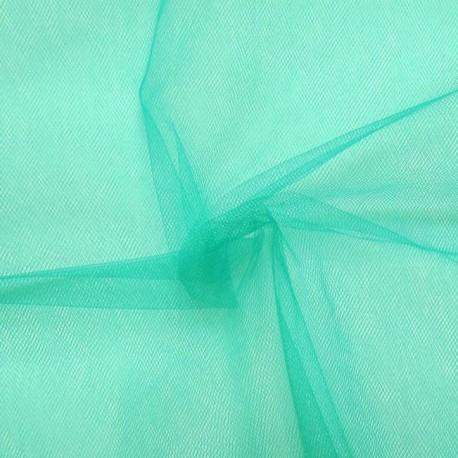 Tissu tulle  vert emeraude x 50 cm