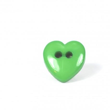 Lot boutons coeur vert