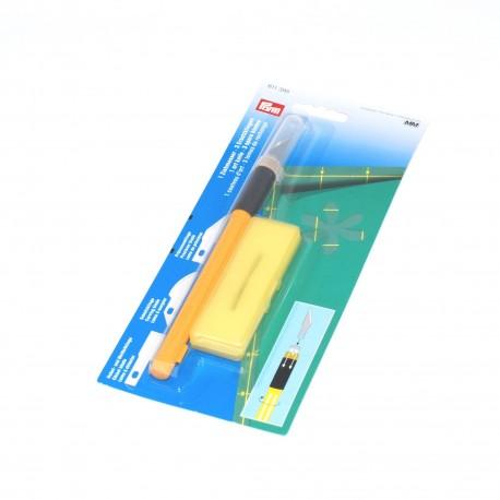 Couteau d'art avec 3 lames spéciales