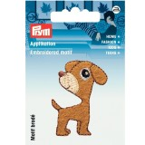 Motif thermocollant chien marron