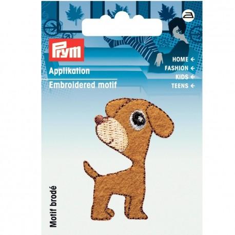 Motif thermocollant chien marron