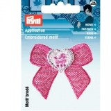Motif thermocollant noeud rose