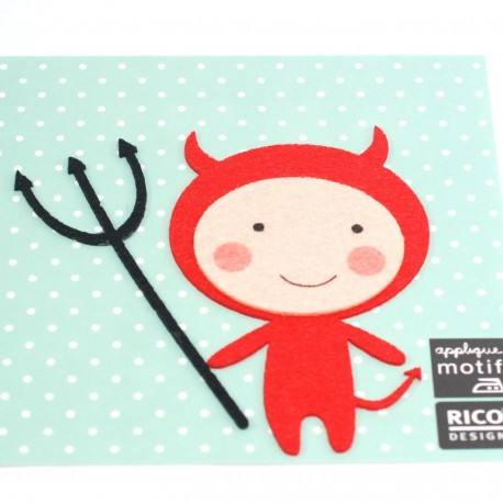 Motif thermocollant diable rouge