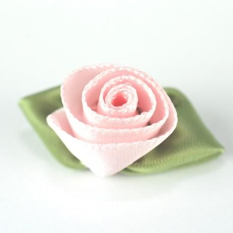 Rose satin à coudre rose