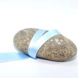 Ruban satin bleu double face 10 mm