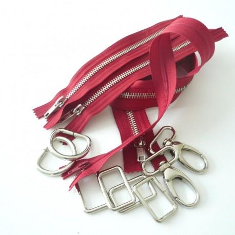 Kit fournitures Boston rouge