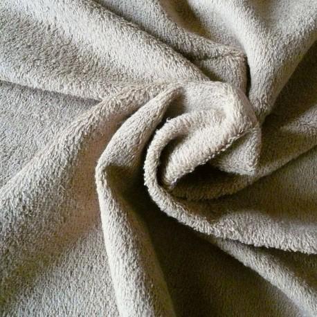 Tissu éponge beige