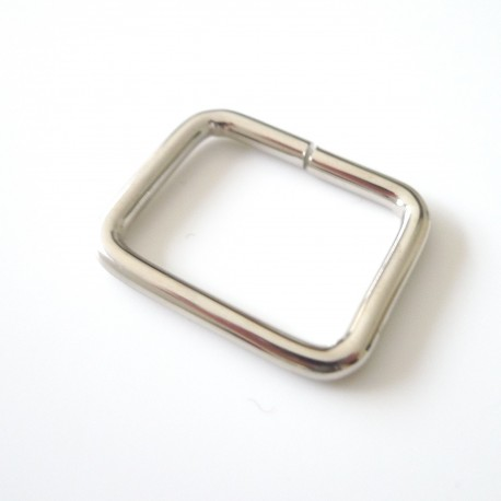 Boucle rectangle nickel
