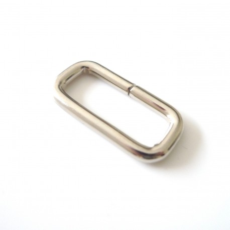 Boucle rectangle nickel