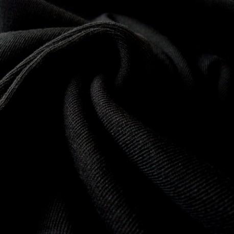 Jersey bord côte noir