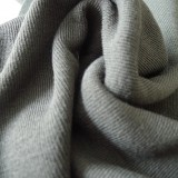 Jersey bord côte gris