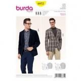 Patron veste homme Burda 6872