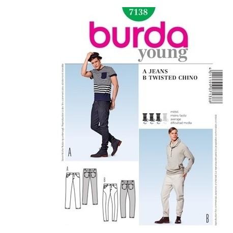 Patron jeans Cousu main Burda 7138