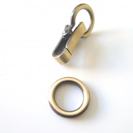 Mousqueton clip bronze