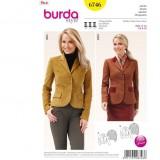 Patron veste femme Burda 6746