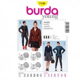 Patron veste Cousu main Burda 7140