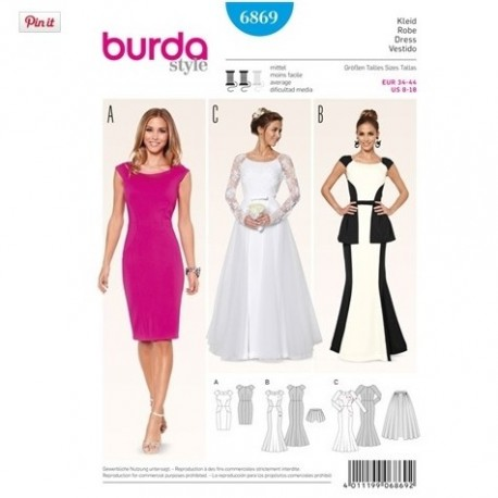 Patron robes Cousu main Burda 6869