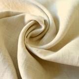 Tissu lin lavé naturel