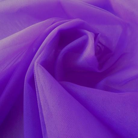 Tissu tulle  violet x 50 cm