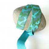 Sangle coton camouflage turquoise