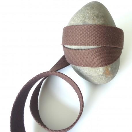 Sangle coton marron