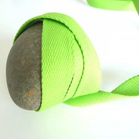 Sangle coton vert acide
