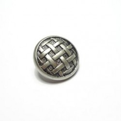 Bouton natté nickel 24 mm