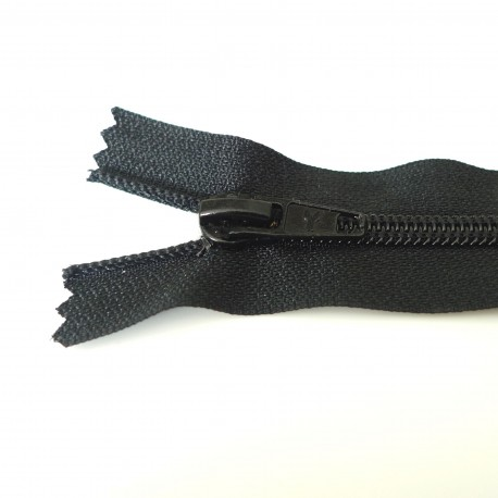 Zip grosse spirale Noir