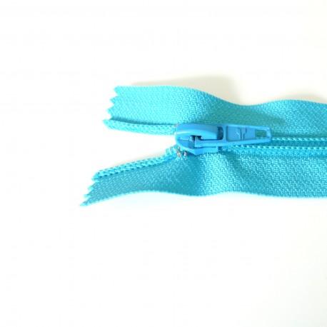 Zip spirale turquoise 6 mm
