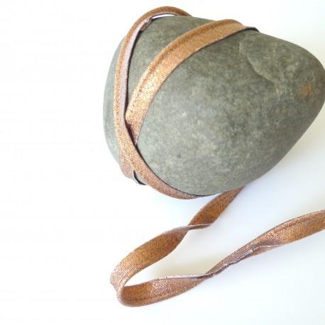 Passepoil lurex bronze