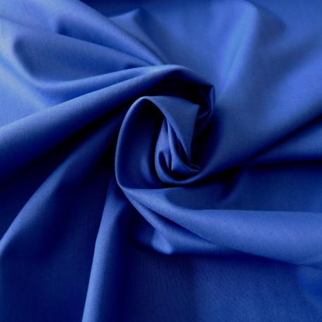 Tissu coton bleu roi Evira