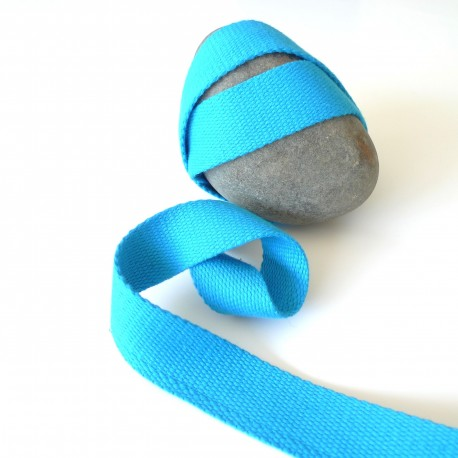 Sangle coton turquoise