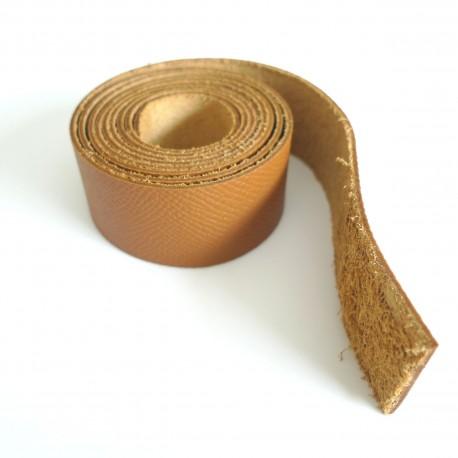 ac0d2c687c Lanière cuir caramel - Cousez vos sacs !
